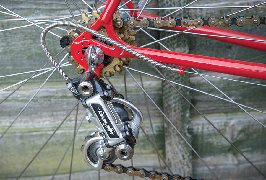 TI Raleigh Team Pro 753 Campagnolo End Adjusters, Steel Gear Casing, Freewheel & Chain