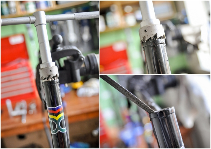 Denton Cycles 753 Ilkeston SBDU Chris King Headset Head Tube Facing