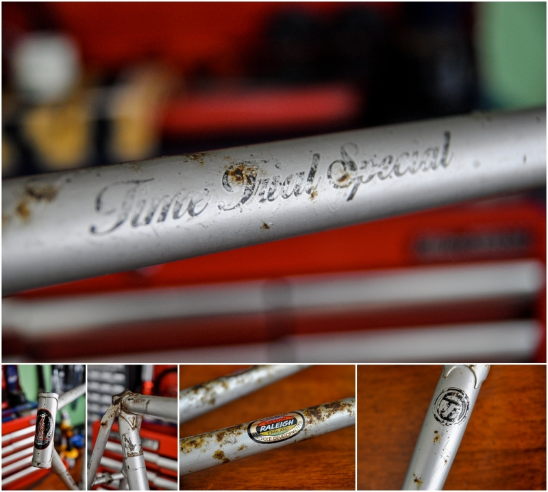 Raleigh SBDU Ilkeston Time Trial Special 753 1978 SB2692 H591 Frame Decals