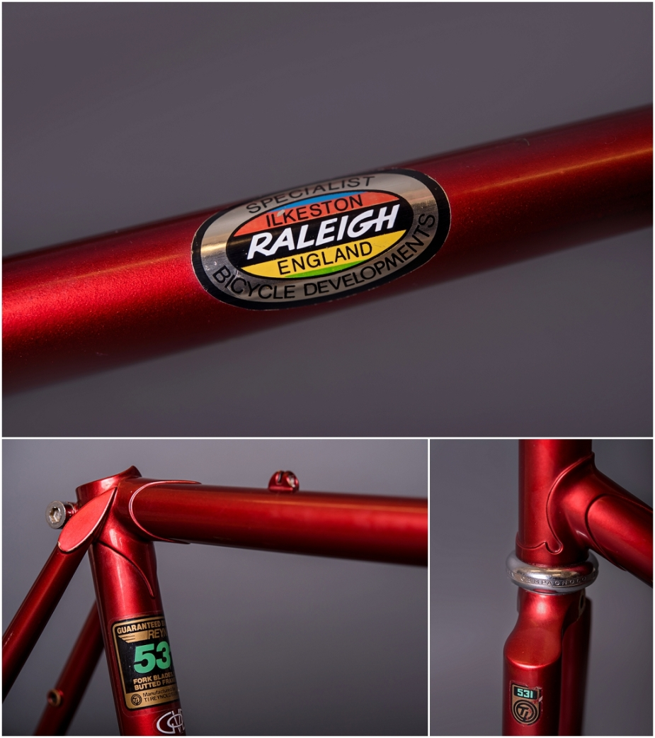 Raleigh SBDU Ilkeston TI-Raleigh SB7660 1985 Randonneur Detail