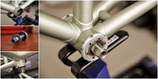 SBDU TI Raleigh Ilkeston SB5464 Time Trial Special OMAS Titanium Bottom Bracket Fitting