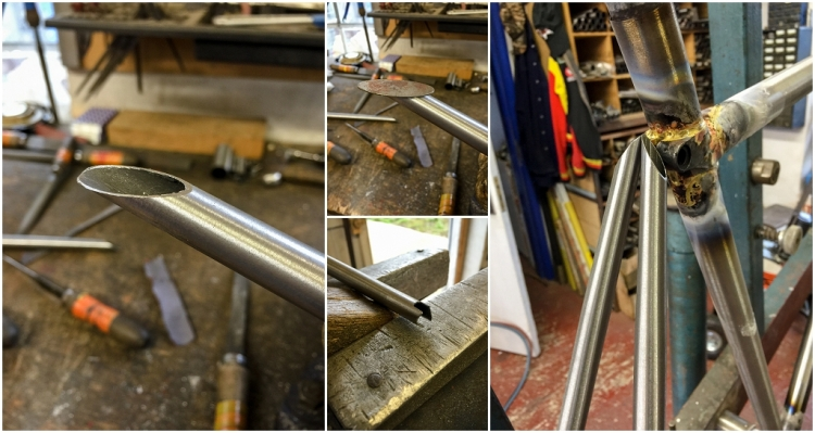 Dave Yates Frame Building Course Day 2 Creating Seat Stay Ends