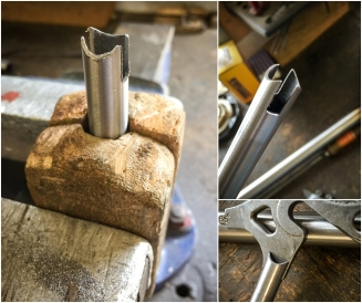 Dave Yates Frame Building Course Day 1 Sub Assembly Slotted and Curved Ends