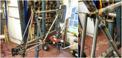 Dave Yates Frame Building Course Day 2 Seat Stays Prepped and Ready to Fit