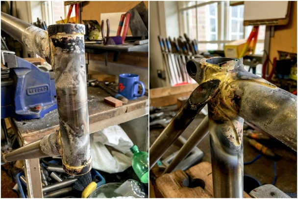 Dave Yates Frame Building Course Day 3 Excess Tubes Rough Cut