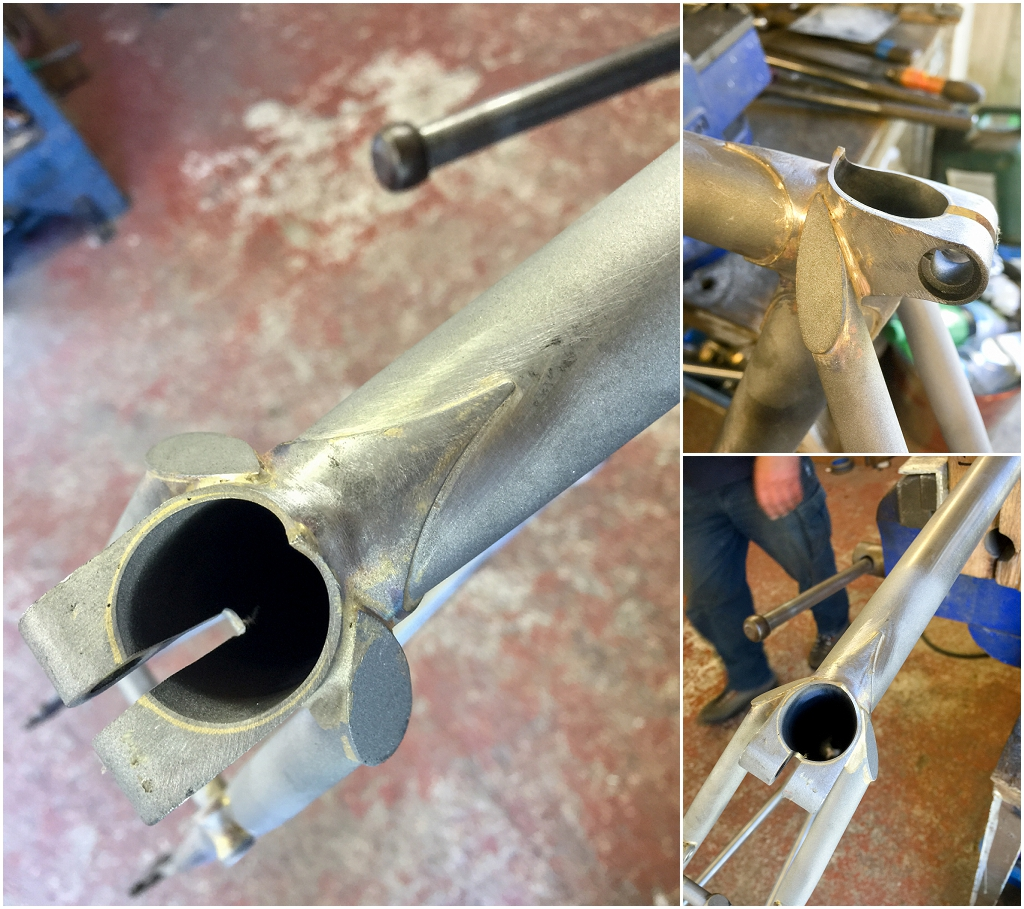 My TI Raleigh SBDU Dave Yates Frame Building Course Day 5 Cleaning ...