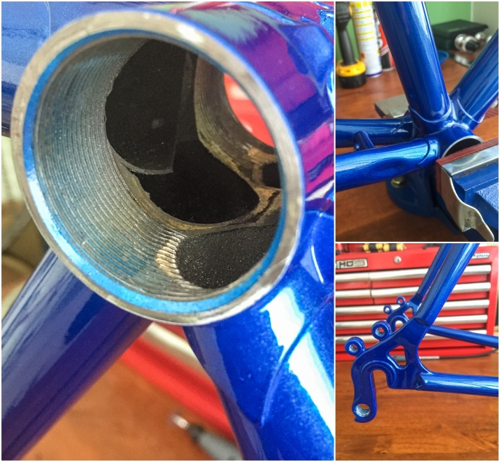 Dave Yates Frame Building Course Painted Frame Bottom Bracket