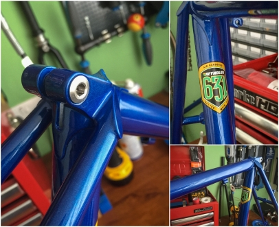 Dave Yates Frame Building Course Painted Frame Seat Lug Details