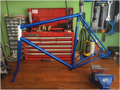 Dave Yates Frame Building Course Painted Frame