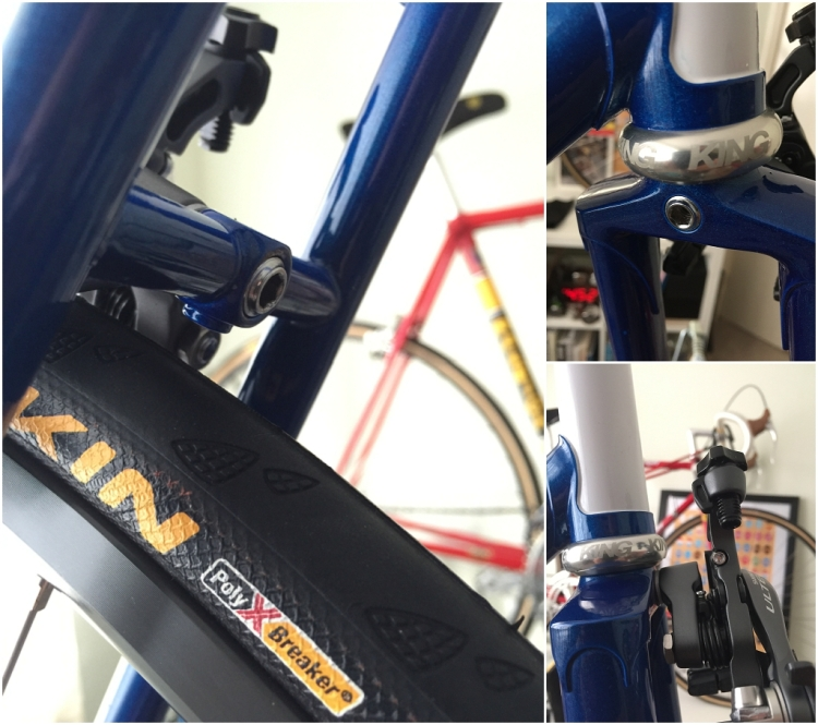 Dave Yates Frame Building Course Complete Bike Brake Calipers Fitted