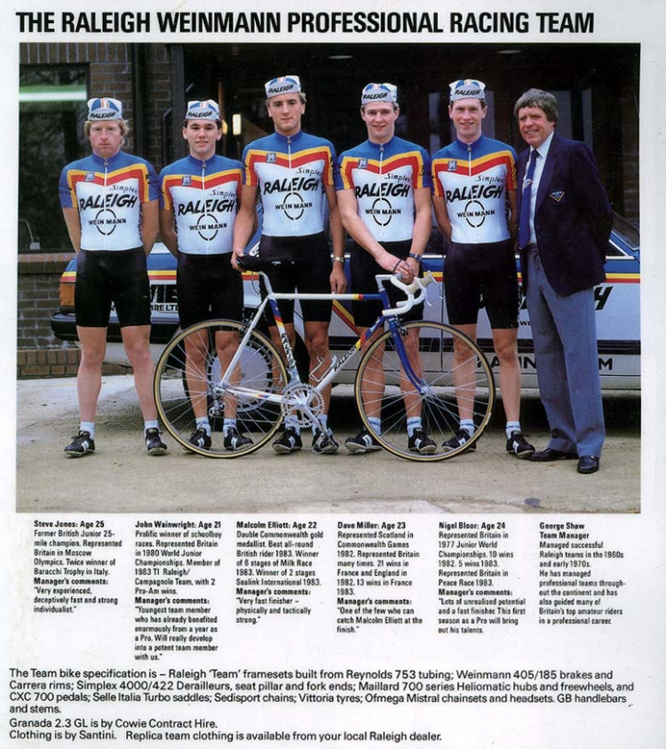 Raleigh Weinmann Team Catalogue