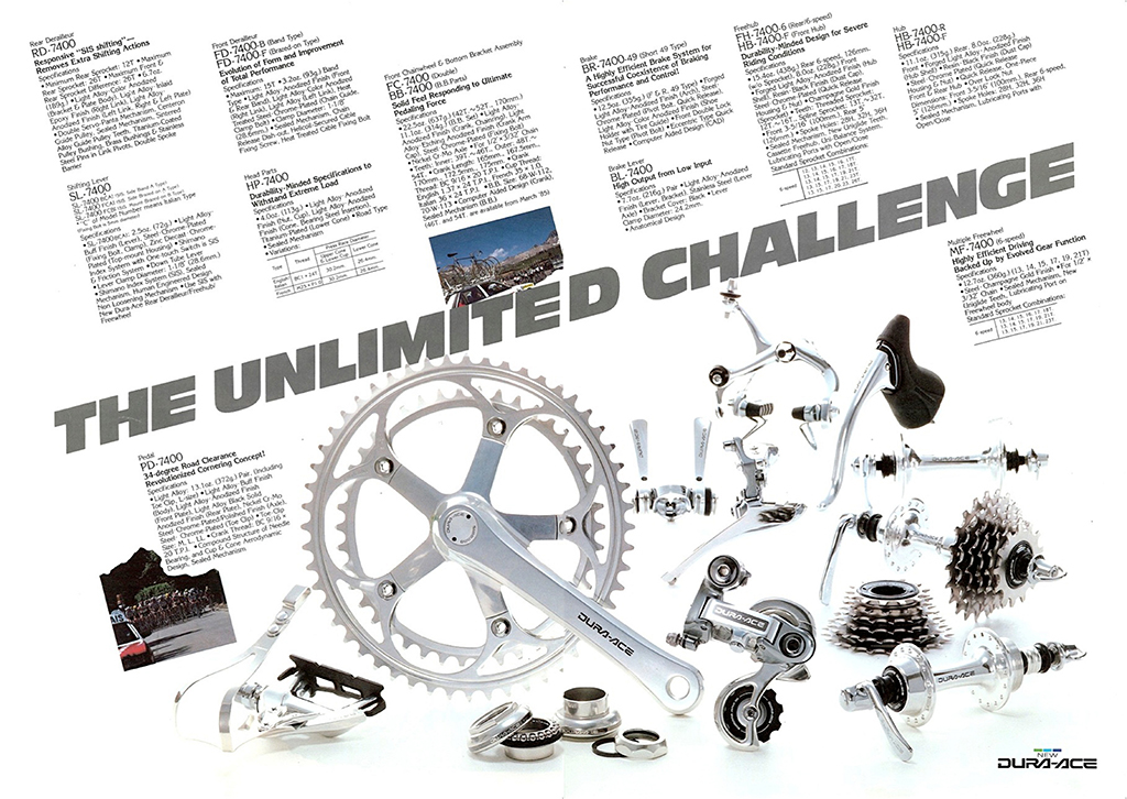 Shimano Dura-Ace 7400 1984 6 Speed SIS