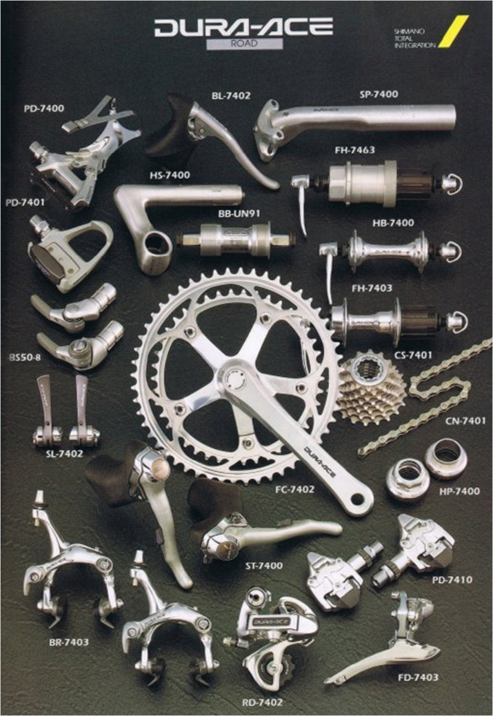 Shimano Dura-Ace 7402 1991 8 Speed STI