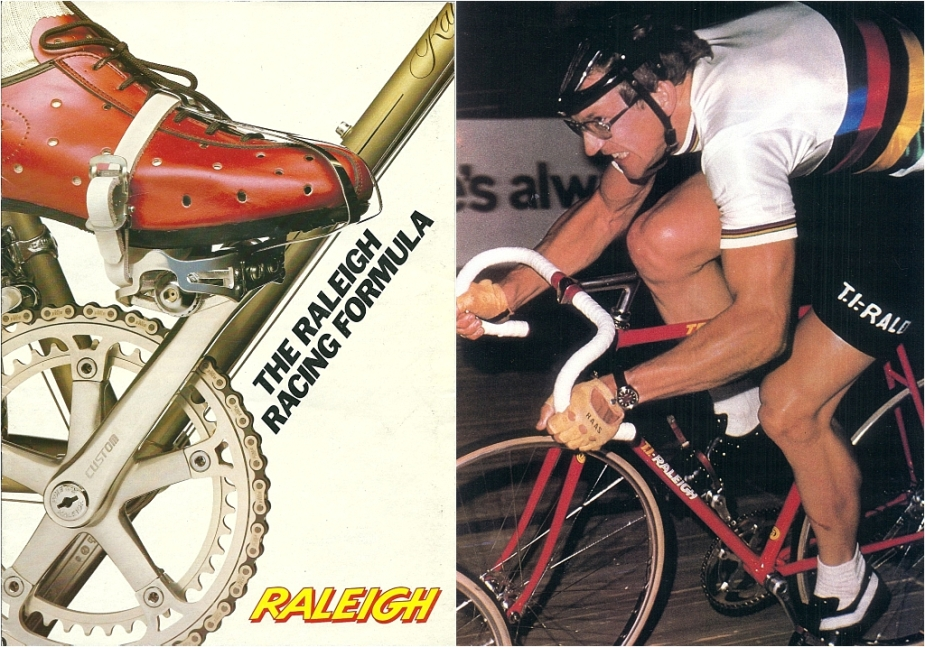 Raleigh Catalogue 1982 Featuring JR178T Jan Raas Track Frame Cover