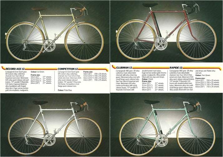 Raleigh Catalogue 1982 Featuring JR178T Jan Raas Track Frame Page 3 and 4