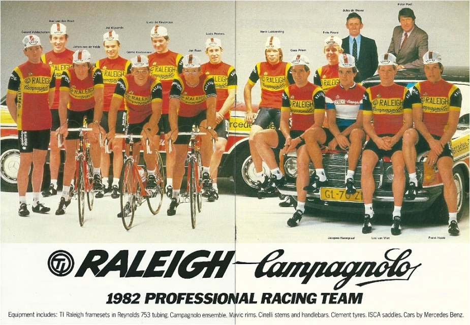 Raleigh Catalogue 1982 Featuring JR178T Jan Raas Track Frame Page 5 and 6