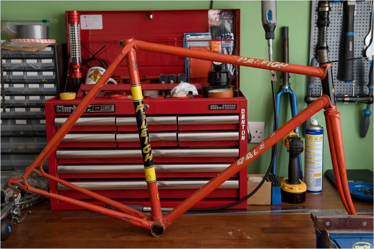SB1688 1977 SBDU Ilkeston TI-Raleigh Team Pro Reynolds 531 Frame and Forks