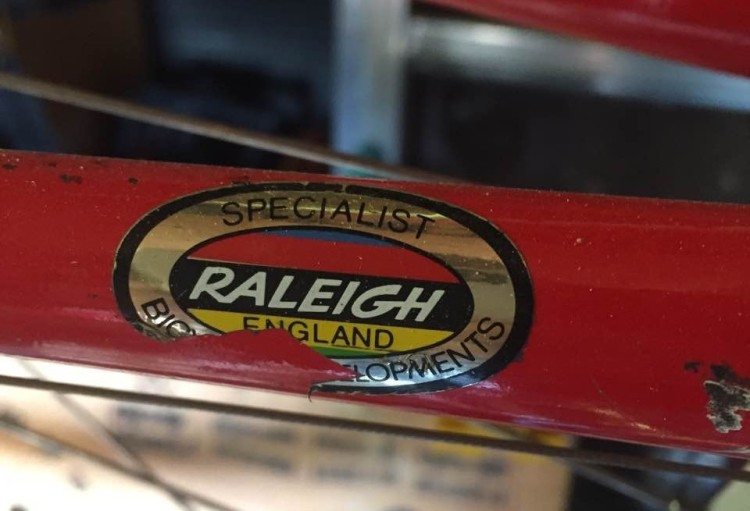 SBDU TI-Raleigh Chain Stay Oval Transfer