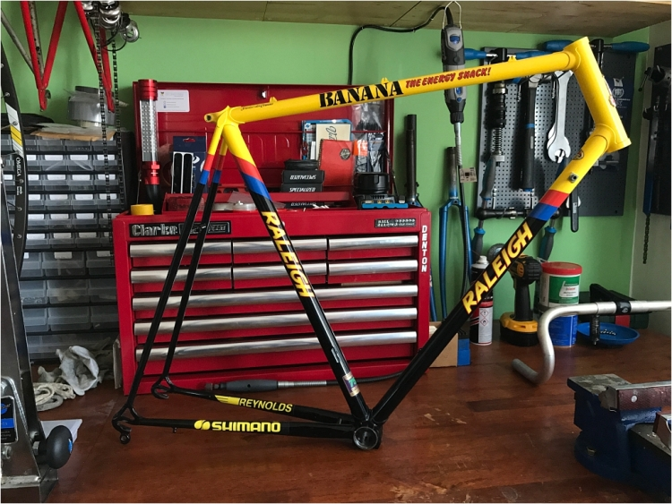 SB8868 SBDU Nottingham Reynolds 753R Raleigh Banana New Transfers Fitted