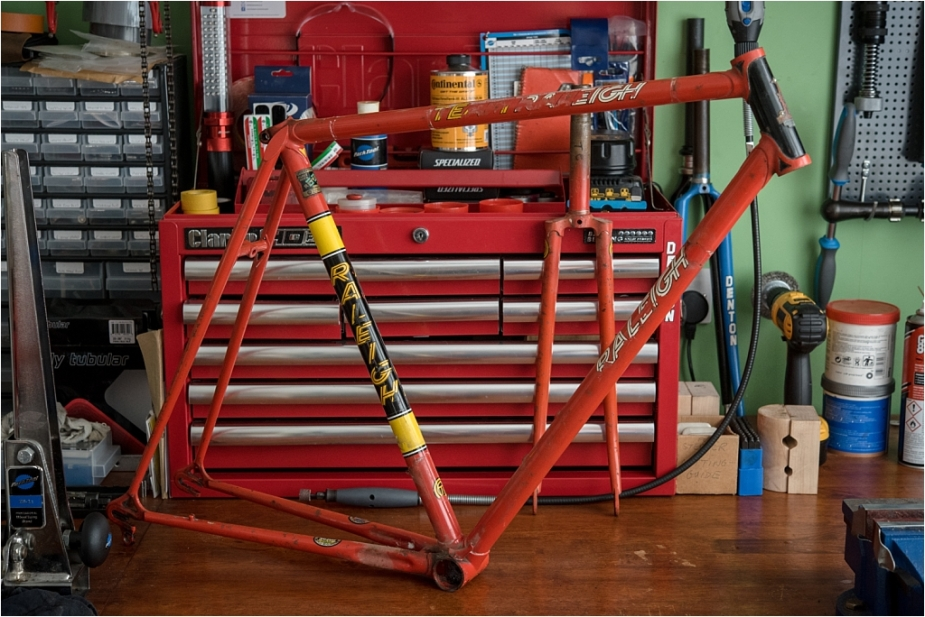 SB1861 1977 SBDU Ilkeston Reynolds 531 TI-Raleigh Team Pro Frame Striped