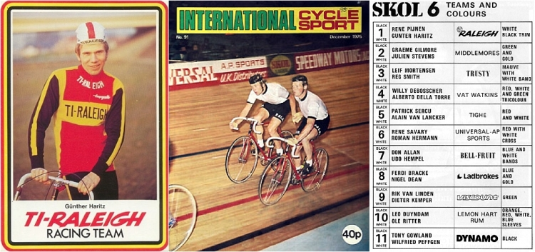 Gunter Haritz GH6175 1975 531 TI-Raleigh Team Track Frame 1975 Skol 6 Day London