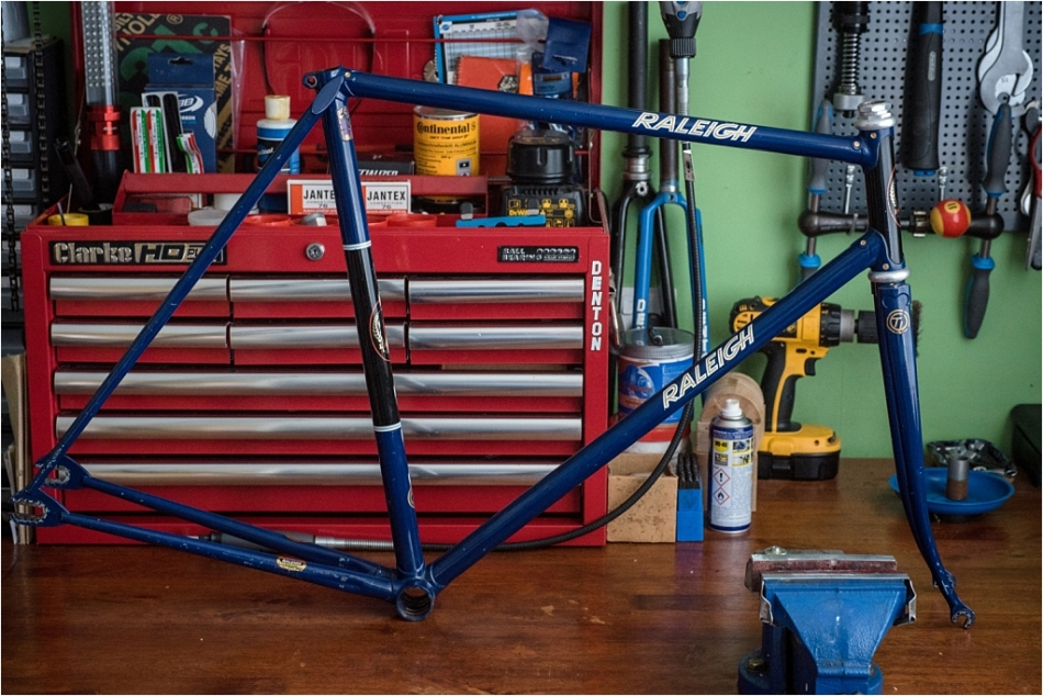 SH377T SBDU Reynolds 753 Pursuit Track Frame and Fork Complete