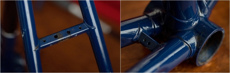 SH377T SBDU Reynolds 753 Pursuit Track Frame Bridge Detail
