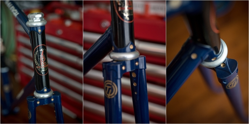 SH377T SBDU Reynolds 753 Pursuit Track Frame Head Tube Detail