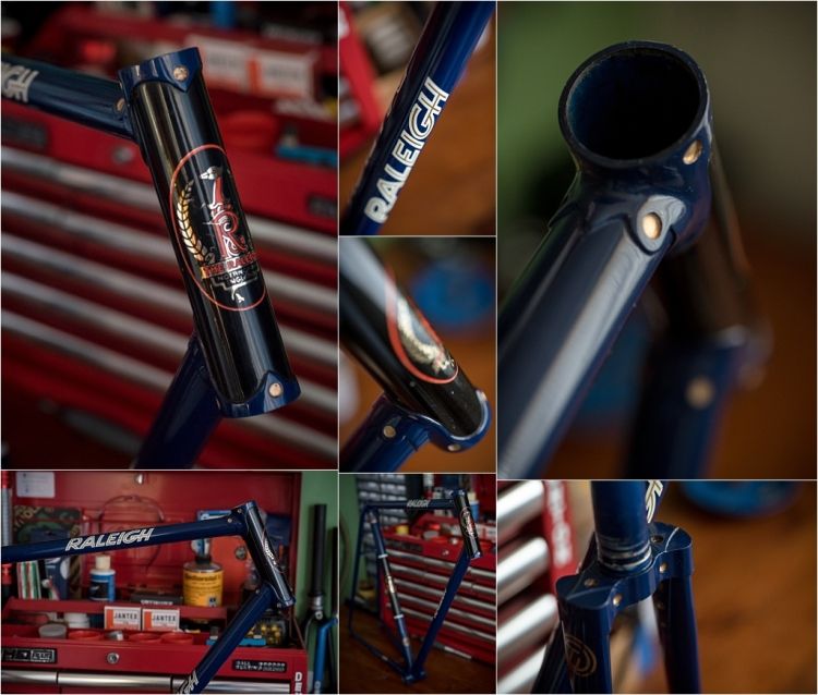 SH377T SBDU Reynolds 753 Pursuit Track Frame Paint Polished