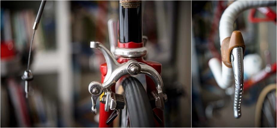SB4059 1980 TI-Raleigh Reynolds 753 Team Pro Campagnolo Super Record Brake Cable Removal