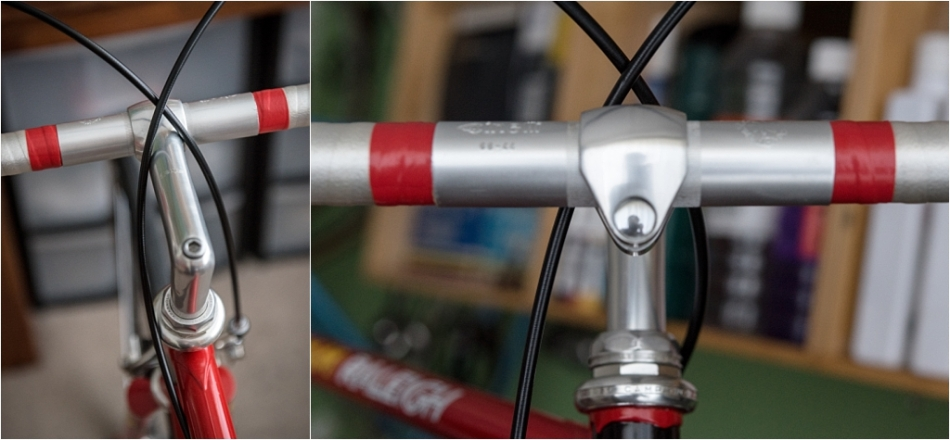 SB4059 1980 TI-Raleigh Reynolds 753 Team Pro Campagnolo Super Record Cable Crossing