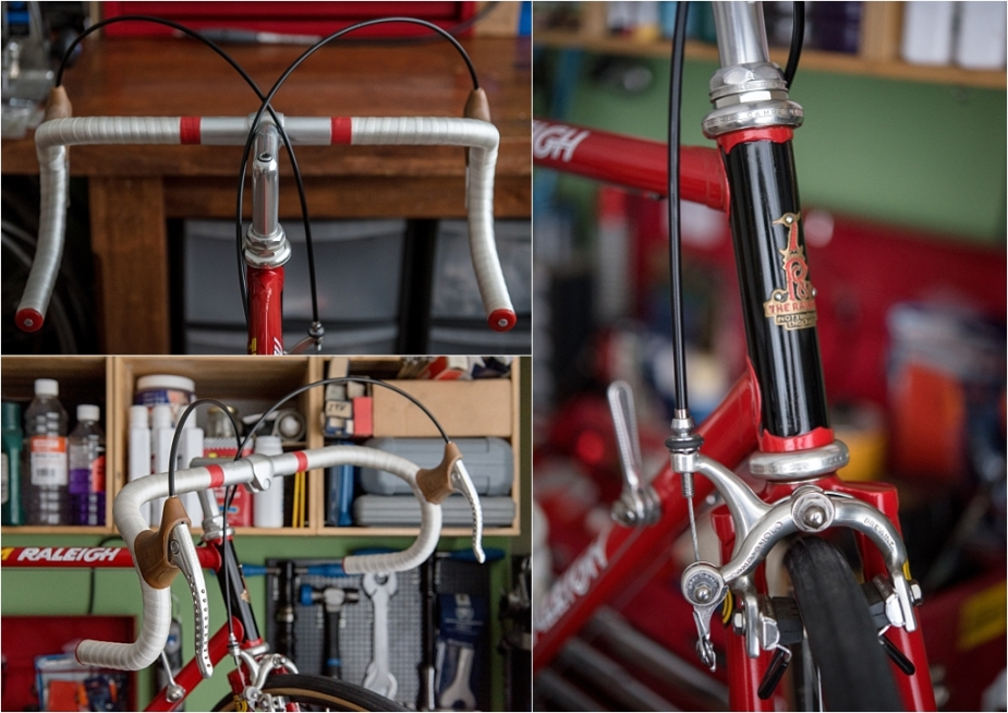SB4059 1980 TI-Raleigh Reynolds 753 Team Pro Campagnolo Super Record Cables Fitted