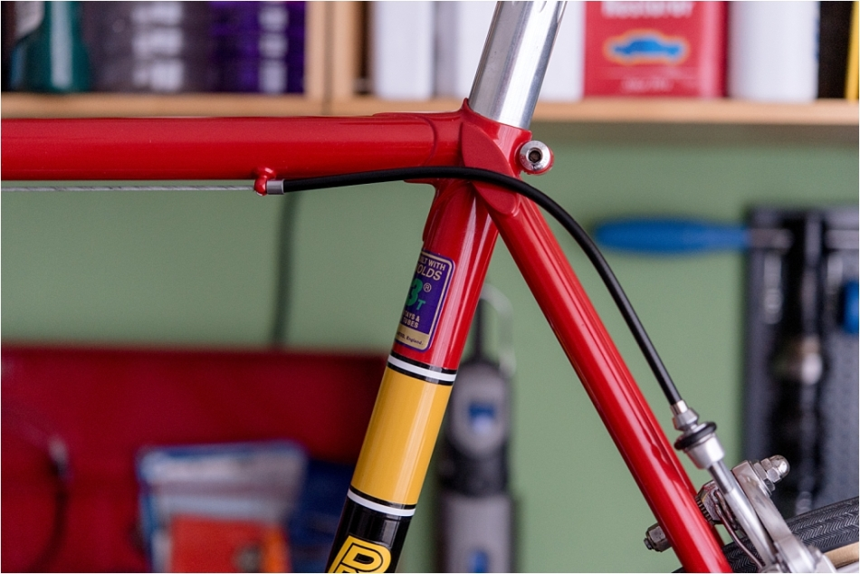 SB4059 1980 TI-Raleigh Reynolds 753 Team Pro Campagnolo Super Record Rear Brake Fitted