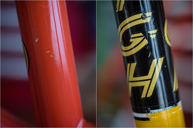 SBDU TI-Raleigh Seat Tube Process Three Yellow Under Red and Black