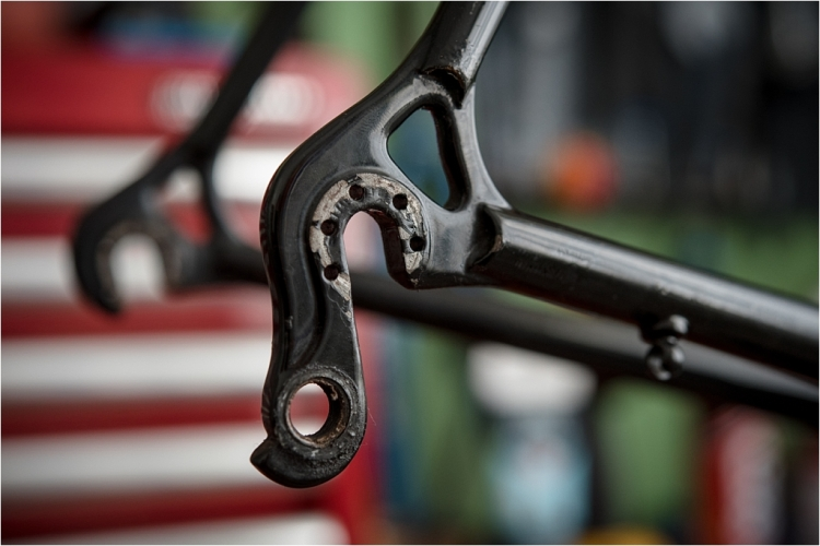 Specialist Bicycle Development Unit (SBDU) Shimano SFR Vertical Dropout Drilled Road Frame