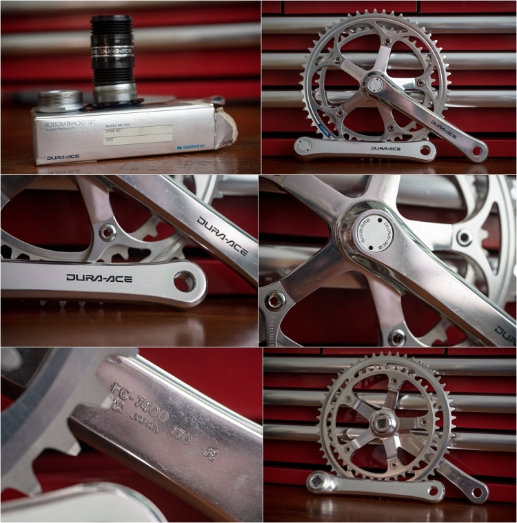 SBDU Ilkeston Panasonic Raleigh Services des Courses Reynolds 531c 1984 SB6560 7400 Chainset and BB