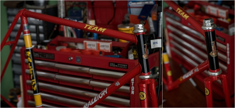 SB4059 1980 TI-Raleigh Team Pro Reynolds 753 Frame and Fork With Super Record Headset