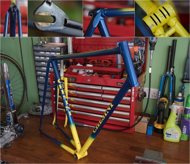 SBDU TI-Raleigh Ilkeston Team Bike Jan Raas Frame Details
