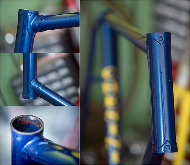 SBDU TI-Raleigh Ilkeston Team Bike Jan Raas Modified Carlton Capella Frame Lugs